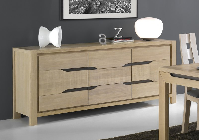 incroyable bahut bois massif contemporain 9 buffet. Black Bedroom Furniture Sets. Home Design Ideas