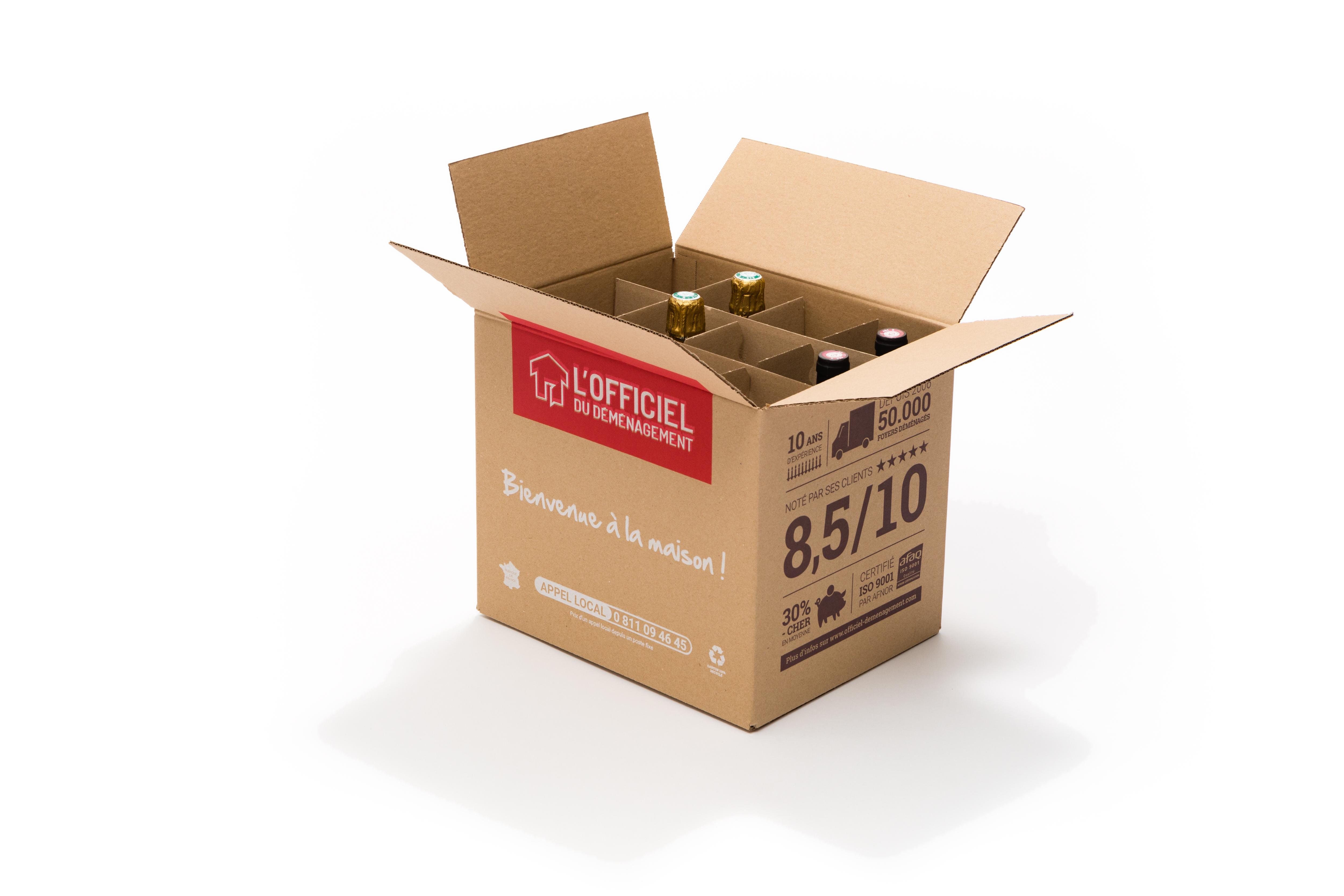 Carton bouteille Officiel du déménagement